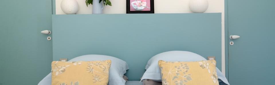 Chambre bleu dans gite de Luberon