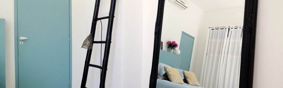 Chambre bleue dans gite de charme Luberon