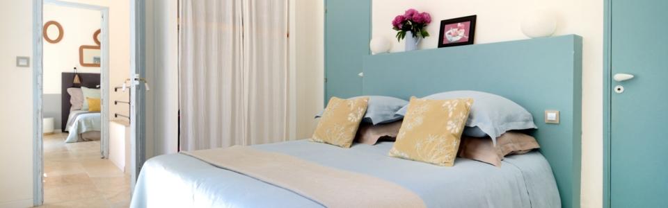 Chambre bleu dans gite de charme Luberon